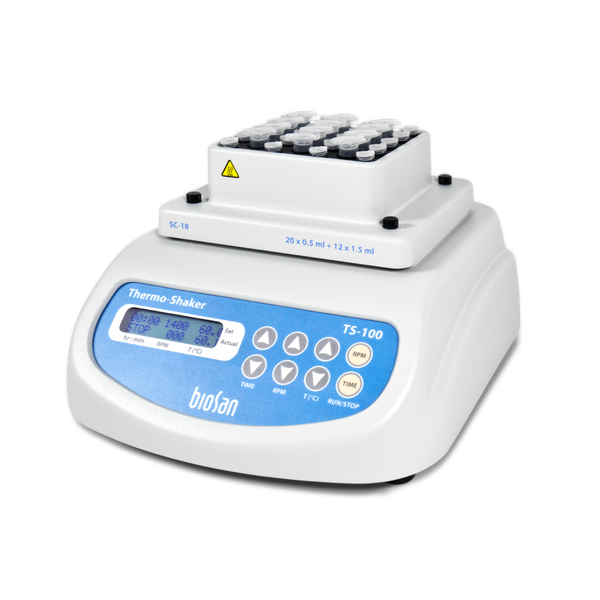 TS-100, Thermo-shaker for microtest tubes and PCR plates